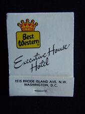 BEST WESTERN EXECUTIVE HOUSE HOTEL POLITIC'S RESTAURANT & LOUNGE MATCHBOOK
