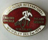 1979 Speedway Lada International meeting Wembley enamel Badge 42 x 32 mm
