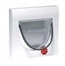 PetSafe Manuelle Katzenklappe 4 Verschlussoptionen Staywell Classic weiß K919