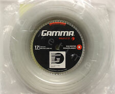 Gamma Poly-Z 17g White 660' Reel Polyester Tennis String 1.25mm 200m NEW SEALED