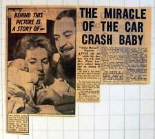 1954 Miracle Of Car Crash Baby Mrs Elaine Leader To-day-old Malcolm And Dad Joe