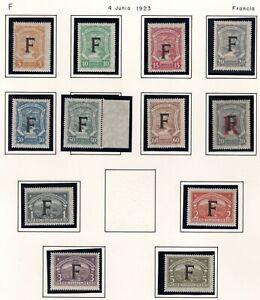 FRANCE - COLOMBIA - SCADTA CONSULAR SET - Sc CLF81/91 + CFLF5 - 1923 - $ 300
