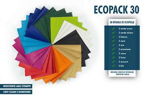 Ritagli di pelle- 30 tagli - 10 varianti di colore- 3 tagli per colore- handmade