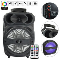 "Rechargeable Portable Bluetooth Speaker With 8"" Subwoofer Sound System Big LED"