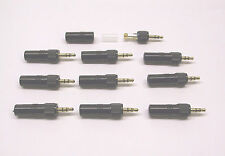 10 Units3.5mm stereo locking Jack Plug for Sennheiser Evolution / Sony Freedom