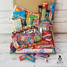 LARGE Retro Sweet Hamper Selection Gift Box Present -Birthday Treat Mixed Candy