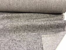 "Charcoal Grey Linen Blend ""Griffen"" Fire Resistant Heavy Upholstery Fabric."