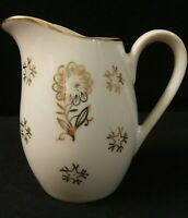 Vintage Made in Japan Marked Porcelain Creamer/Mini Pitcher Gold Floral & Trim