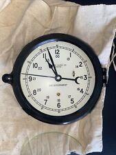 "Vintage Chelsea Clock Co. Boston Us Government, 6"" porthole clock"