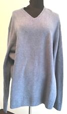 BLACK BROWN 1826 Men's Crewneck Sweater Lambswool Blend SILVER GRAY Size XXL NWT