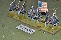 25mm ACW / union - american civil war infantry 16 figures - inf (12430)