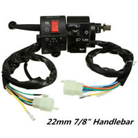 """7/8"""" Motorcycle Handlebar Lever Switch Horn Turn Signal Electrical Start ButtDS"""