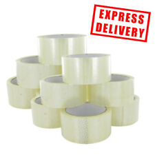 72 Rolls Clear Sellotape Parcel 48mm x 50m Packaging Tape