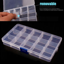 15 Grid Storage Box Case For Jewelry Parts Electronic Components Organize Holder