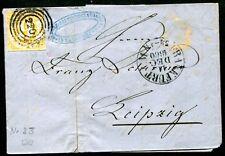 Tutaxis 1859 23 bien gerandet en carta Frankfurt Leipzig (j4204