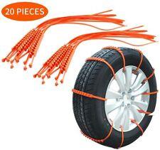 20X Anti-Rutsch Schneekette Schnee Eis Kette Anfahrhilfe Reifenkette Auto PKW DE