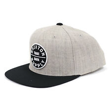 8b7d8c481e3 Brixton Oath III Snapback Hat Heather Grey black One Size