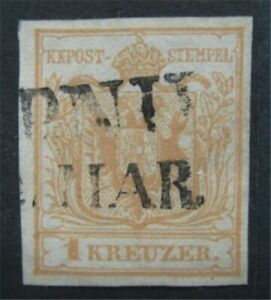 nystamps Austria Stamp # 1b Used $150 Town Cancel    S17x022