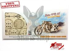 NEW UGEARS Mechanical 3D Puzzle BIKE VM-02 Wooden Model for self-assembly
