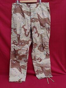 U.S.  Trousers Desert STORM Camo Pants Sz Large Regular Chocolate Chip