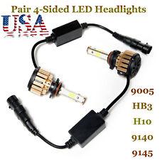 2018 4-Sided LED Headlight Kit 9005 HB3 980W 147000LM 6000K High Beam White Bulb