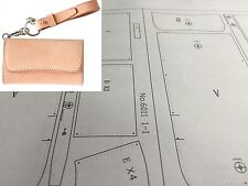 Leather craft Patterns DIY Designs Short Wallet Paper Template Drawing Tool 6011