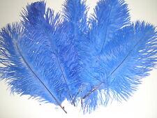lot de 5 plumes autruche bleues 20 cm