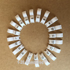 3 mm White 1-20 Numbered Bird Ring Leg Bands Parrot Finch Canary Grouped