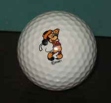 COLLECTIBLE DISNEY MICKEY MOUSE GOLF BALL ACUSHNET 2 VGUC WITH ONE SMALL CHIP