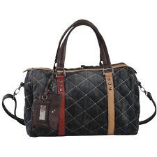 AB Collezioni Queen Womens Ladies Denim Designer Hand Shoulder Bag - Dark Grey