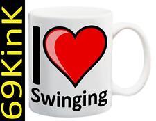 m132 I Love Heart SWINGING cup mug SECRET santa XMAS Sex gift toy WIFE SWOP HEN
