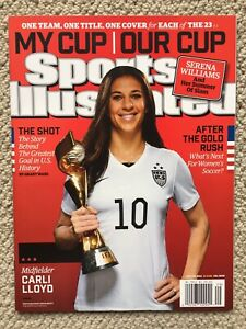 Carli Lloyd Sports Illustrated July 20, 2015 World Cup Cover No Label USWNT