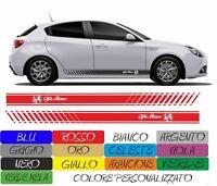 ADESIVI FASCIA ALFA ROMEO RACING GIULIETTA MITO 147 156 TUNING cod170 ADESIVO