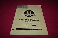 Massey Ferguson 65 Tractor I&T Shop Manual Bwpa