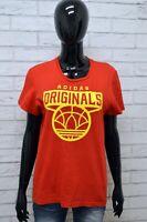 Maglia ADIDAS Donna Taglia M Maglietta Shirt Woman Manica Corta Cotone Rosso