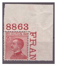 REGNO 1917  - MICHETTI  - 60  Cent CARMINIO  NUOVO  **  NUMERO DI TAVOLA