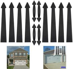 Magnetic Decorative Garage Door Hardware 12 Piece Carriage Accents Faux Hand Gat