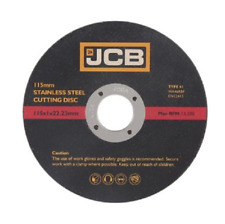 Thin stainless steel metal cutting JCB 115mm x 1.0mm x 22.23mm (8360) 50 DISC'S
