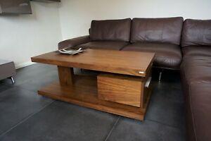 Design Couchtisch Tisch G-18 Nussbaum / Walnuss Schublade Stauraum Carl Svensson