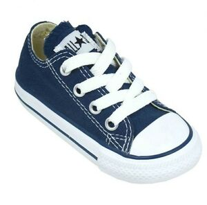 Infants Converse Sneakers Navy Infants Size 4 Measure 4 3/4 inches Heel to Toe