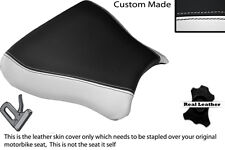 BLACK & WHITE CUSTOM FITS SUZUKI GSXR 600 750 SRAD 96-00 FRONT SEAT COVER