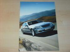 20038) Mercedes S-Klasse W220 Brasilien Prospekt 200?