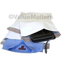 100 14.5x19 2.7 MIL POLYJACKET WHITE POLY MAILERS ENVELOPES BAGS 14.5 x 19