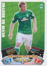 KEVIN DE BRUYNE # DEUTSCHLAND WERDER BREMEN CARD MATCH ATTAX BUNDESLIGA 2013