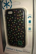 Speck - Fab Shell BURTON Case Apple iPhone 5 & 5S Black Confetti Dots MultiColor