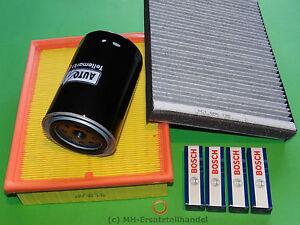 Ölfilter Luftfilter Pollenfilter Zündkerzen Audi A6 (4B) 1.8T Bj. 99-05