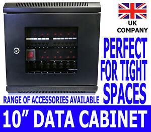 "10"" 6U Black Wall Cabinet Network Data Rack SOHO Home Office Lan Server Switch"