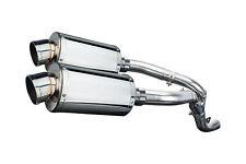 "Kawasaki ZX-10R Ninja Delkevic Slip On 9"" Stainless Oval Muffler Exhaust 06 07"
