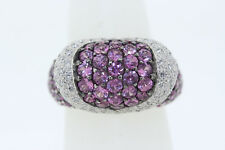 NEW Le Vian 18k White Gold 3.65ct Pink Sapphire & .60ct Diamond Cocktail Ring