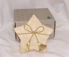 Partylite Shining Star Gift Set 6 Votives Gold Brocade Fabric Shiny Beautiful